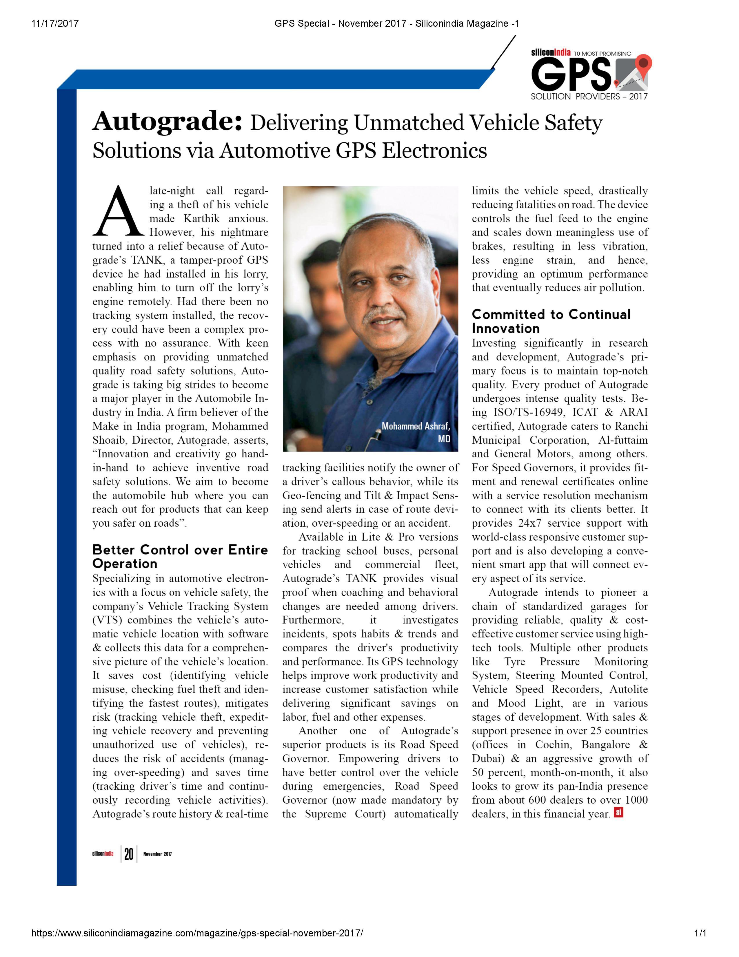 Silicon magazine article