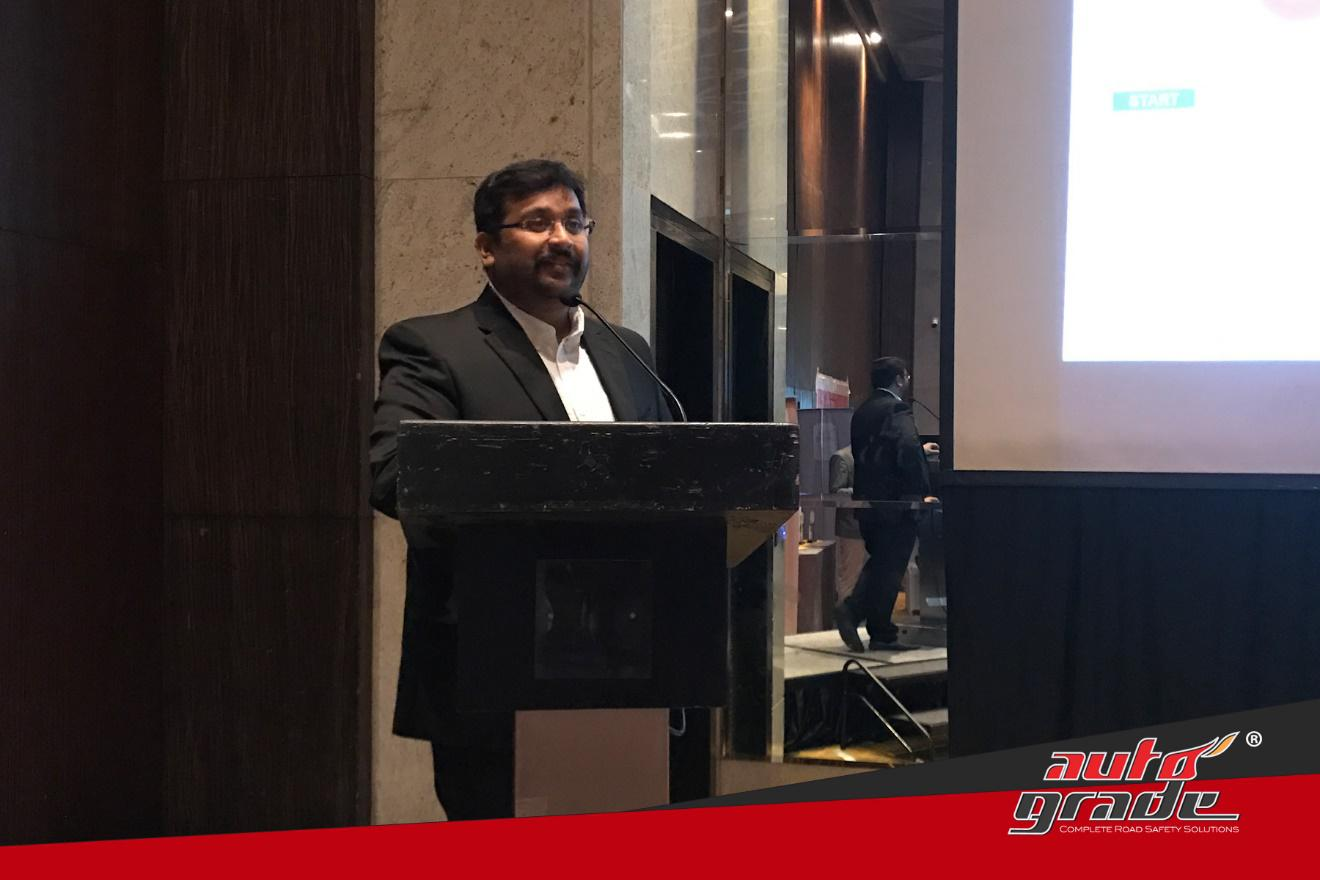 Mr. Shoaib Mohamed, Director of Autograde, addressing distributers at Autograde's annual All India Distributers Meet conducted in Mumbai.